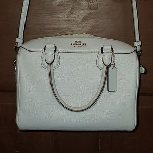 Small Baby blue Coach Bag